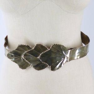 Accessories - Solid Metal Belt Vintage 1980s, Fits Waist 29-35